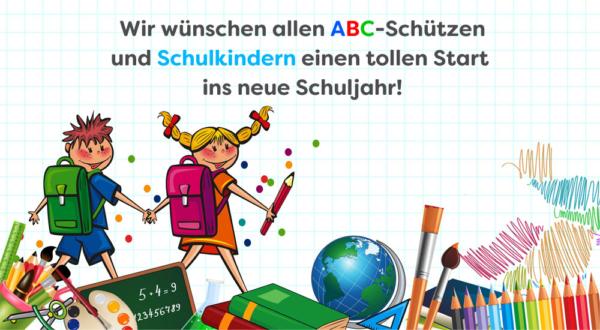 Wir wünschen einen tollen Schulstart!